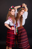 Young women in ukrainian clothes Royalty Free Stock Photos