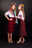 Young women in ukrainian clothes Royalty Free Stock Photos