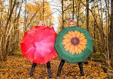 Young women with umbrella Stock Photography