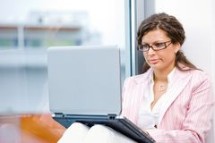 young women using laptop Stock Photography