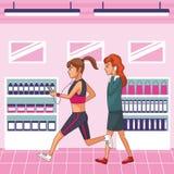 Young women cartoon stock illustration