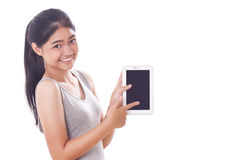 Young women using tablet pc Royalty Free Stock Photo