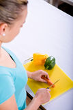 Young women with vegetables Royalty Free Stock Photo