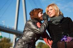 Young women whispering Stock Photography