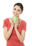Young women wiht cup Stock Photo