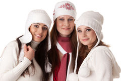 Young  women in winter clothes. Royalty Free Stock Photo