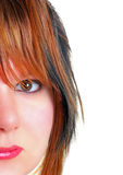Young womens face Royalty Free Stock Photography