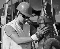 Young worker Stock Image