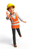 Young Worker with best sign Royalty Free Stock Images