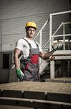 Young worker on a factory Stock Photography