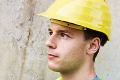 Young worker in hard hat Stock Photos