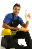 Young worker having break Stock Images