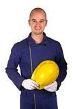 Young worker heavy industry. Background Royalty Free Stock Photos