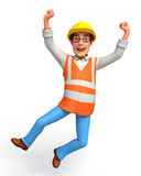 Young Worker is jumping Royalty Free Stock Photos