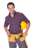 Young Worker Man With Hard Hat Stock Photos
