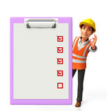 Young worker with notepad Stock Photo