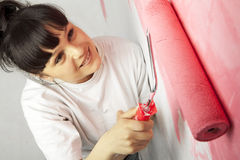 Young worker painting Stock Images