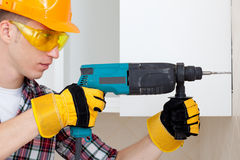Young worker royalty free stock image