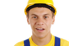 Young worker with perplexed look Royalty Free Stock Photo