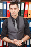 Young worker portrait Royalty Free Stock Images