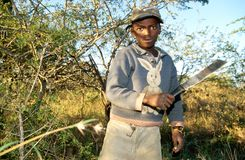 A young worker in rural South Afirca Stock Image