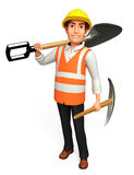 Young Worker with spade Royalty Free Stock Photo
