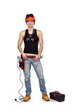 Young worker with toolbelt Stock Photography