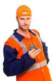 Young worker in uniform Stock Image