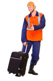 Young worker in uniform Stock Photography