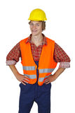 Young worker with visibility vest Stock Photography