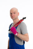 Young workman with bolt cropper Royalty Free Stock Photography