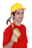 Orkman with a hammer Stock Photo