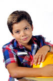 Young workman. With hard helmet Royalty Free Stock Photo