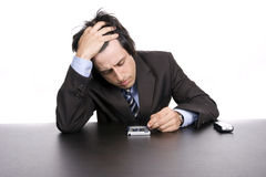 Young worried businessman  Royalty Free Stock Photo