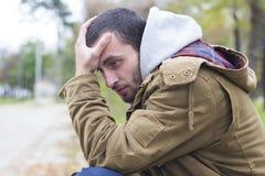 Young worried man Stock Photos