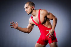 Young wrestler Royalty Free Stock Photography