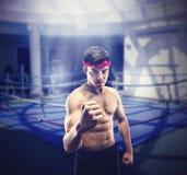Young wrestler Stock Photo