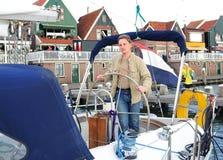 Young yachtsman Stock Photo