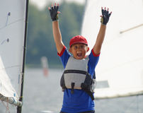 Young yachtsman. Royalty Free Stock Image