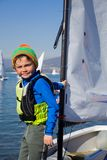 Young yachtsman Royalty Free Stock Image