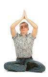 Young yoga casual man Royalty Free Stock Image