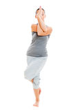 Young yoga female doing yogatic exercise Royalty Free Stock Photos