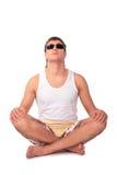 Young yoga man Stock Image
