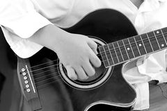 Young young Playing Guitar Stock Images