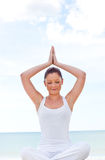 Young zen female practicing yoga exercise Royalty Free Stock Photo