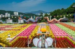 Youngdeung Lantern Festival Samgwansa Temple Korea Busan. Samgwangsa Busan famous lantern festival for buddha birthday Royalty Free Stock Photo