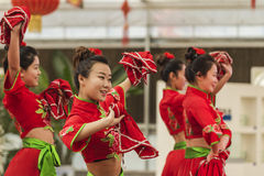 Younger dancers Northeast China Stock Photo