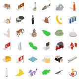 Younger icons set, isometric style. Younger icons set. Isometric set of 36 younger vector icons for web isolated on white background Royalty Free Stock Photo