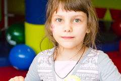 Younger schoolgirl Stock Image