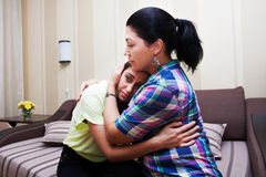 Younger sister crying Stock Photography